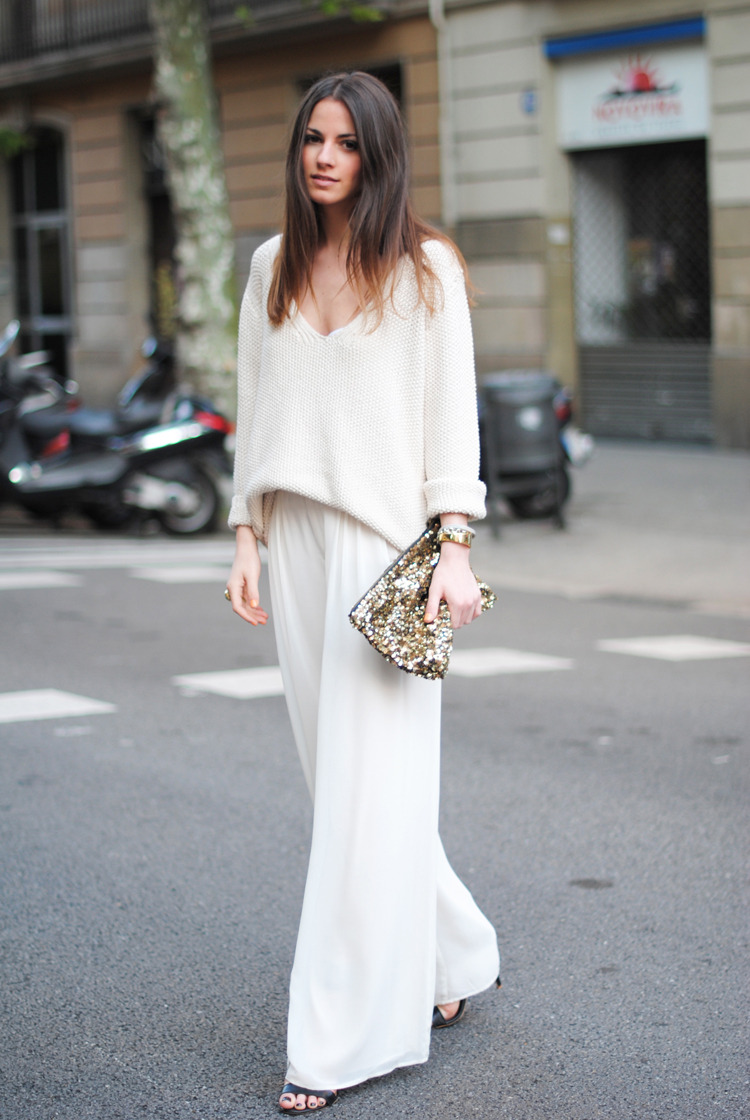 what-do-i-wear:  Pants/Pantalones: Zara (new collection), Shoes/Zapatos: Mango (new collection), Sweater/Jersey: Zara (new collection), Ring/Anillo: YSL, Bracelet/Pulsera: Uterqüe (new collection), Clutch: Zara (image: fashionvibe)