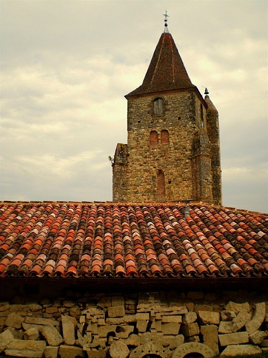 | ♕ |  Church bell tower - Lavardens, France  | by © Pantchoa