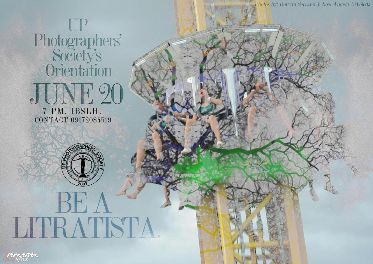 Be a part of our loving family. :) Be a Litratista. Attend our orientation on June 20, Wednesday, 7PM, at the IBS Lecture Hall. For more details, contact Chamae at 09172084519. Cameras are not required; Passion is. See you there! :)