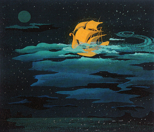 dreamsandfanciesinmyhead:  Peter Pan concept art, by Mary Blair.