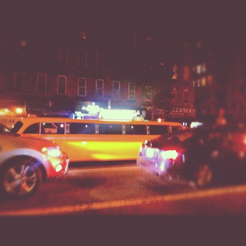 Crappy photo of a really sweet stretch taxi #nyc #insomnia (Taken with Instagram)