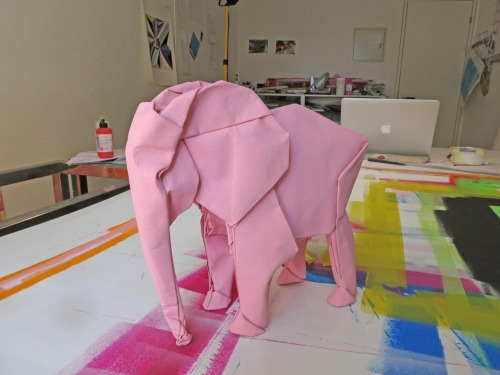 a pink elephant @ the studio!