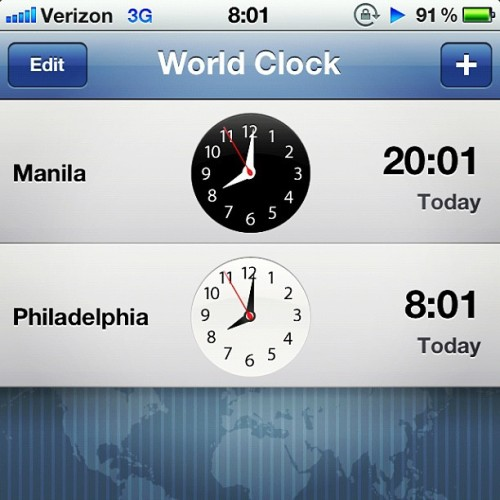 Day 14) #Time #Worldclock #Philippines  (Taken with Instagram at Highland Regional High School)