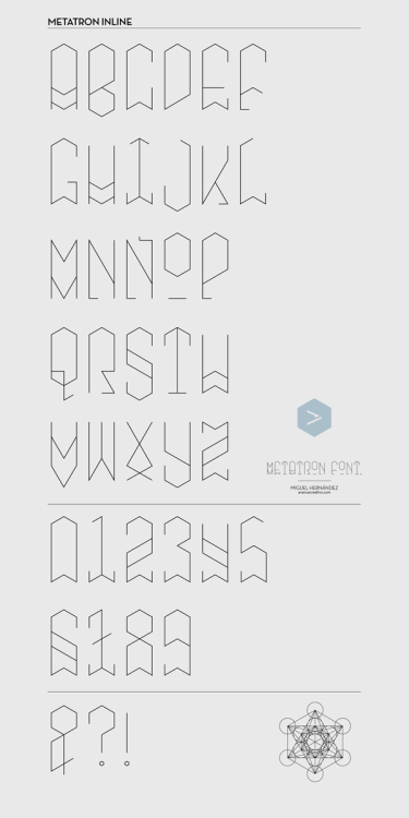 Metatron Font on Typography Served