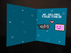 geekymerch:  (via Nyan Cat printed card by nyappy on Etsy)