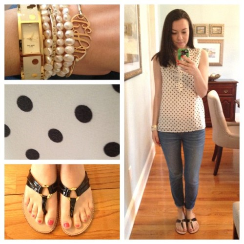 OOTD | #polkadots (Taken with Instagram)