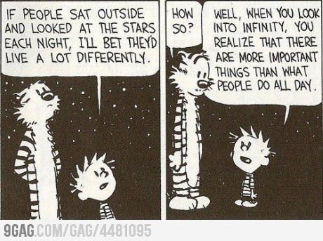 9gag:  If people sat outside and looked at the stars…