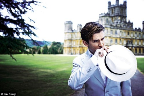 Oh dear, I'm smitten. Dan Stevens has the bluest eyes.