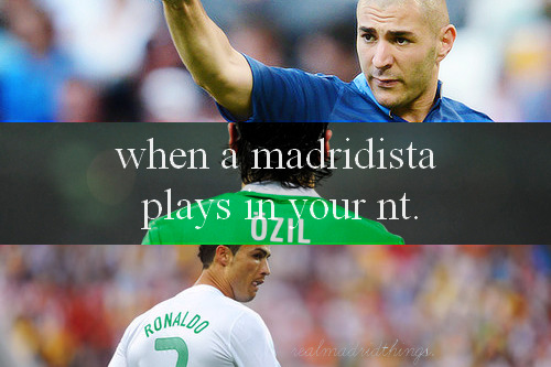 realmadridthings:   Real Madrid Things — #107 When A Madridista Plays In Your National Team.
