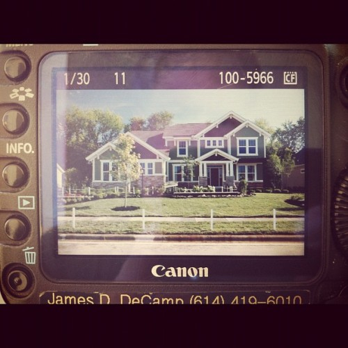 Photographing the BIA Parade of Homes exteriors for Home & Garden Magazine. (www.James DeCamp.com | 614-367-6366) (Taken with Instagram at BIA Parade of Homes)
