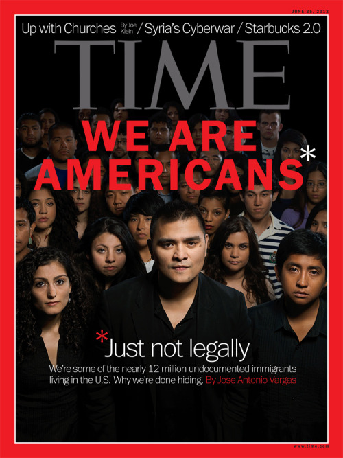 timemagazine:  One year ago, Jose Antonio Vargas publicly revealed he's an undocumented immigrant. In the latest issue of TIME which will hit newsstands Friday, Vargas reports on life in citizenship limbo, and how others are 'coming out.'Read the cover story here and check out more 35 more portraits on LightBox. (Photograph by Gian Paul Lozza for TIME)