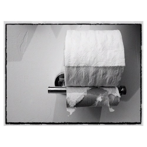 I'm never going to understand this. #paper #toiletpaper #roll #empty #full (Taken with Instagram)