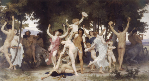 The Youth of Bacchus (1884) William-Adolphe Bouguereau (1825-1905)