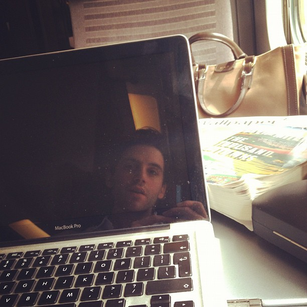 "fyeahmika:  ""On the train to Paris. Trying to finish '1000 autumns of Jacob de Zoet'"""
