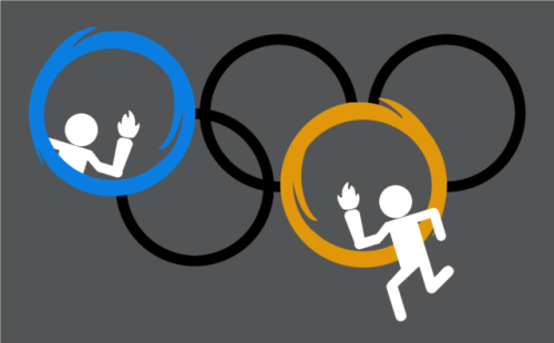 Aperture Games by ~OrangeRakoon So perfect for the upcoming Olympic Games!