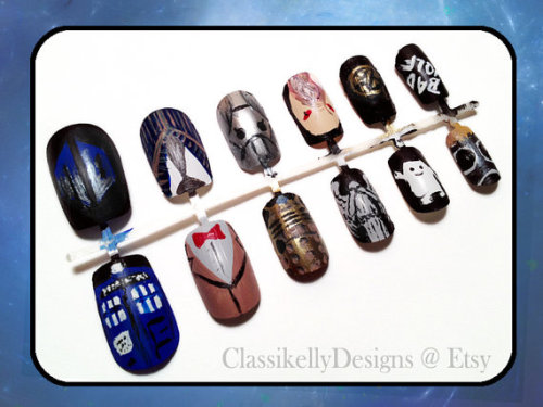 craftthecastiel:  Awesome doctor who nails! buy them here!