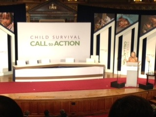 "annegoddard:  Secretary of State Hillary Clinton addressing the Child Survival: Call to Action summit in D.C., points out that ""progress not the same as success.""  Child mortality is dropping by 2.5% a year worldwide. To reach the MDG by 2015, we need to increase this to 12%. Today's Call to Action is to focus everyone on the end goal."