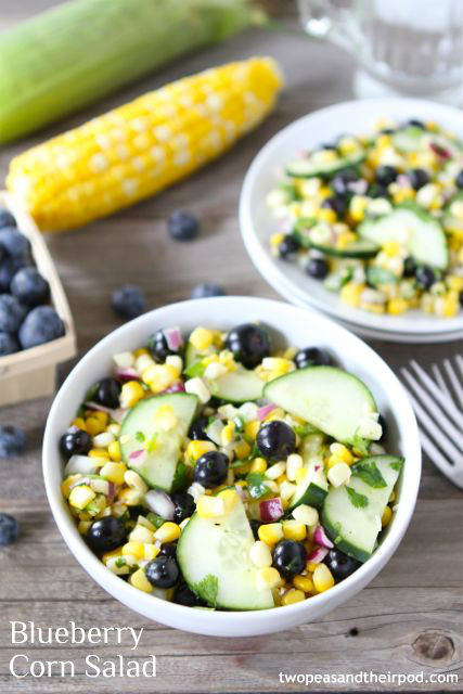blueberry corn salad.