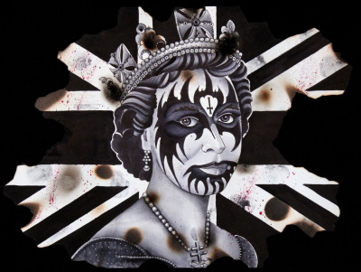 sacredarttattoos:  Awesome painting by Alex, inspired by the Queens jubilee!
