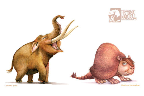 paleoillustration:  Megafauna cartoons by Pablo Lara
