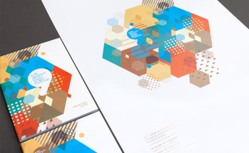 weandthecolor:  Identity Design Inspiration French creative graphic design agency 'MURMURE' was commissioned by ESAM to creat the visual identity for the graduates' exhibition 2011-2012 and the school's brochure. via: WE AND THE COLORFacebook // Twitter // Google+ // Pinterest