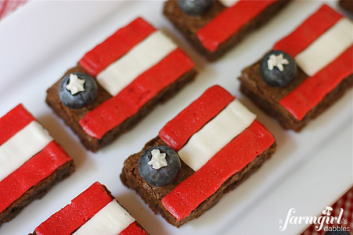 fudgy patriotic brownies.