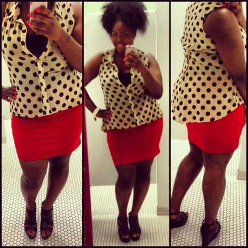 mseverything87:  #ootd #workflow #officejob #fashiongram #style #plussize #plussizefashion #businesswoman #boss #chic #curves #curvy #picstich #igers #cute (Taken with Instagram)