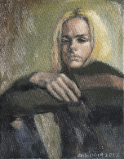 Quick Oil Painting Portrait of Andrej Pejic.