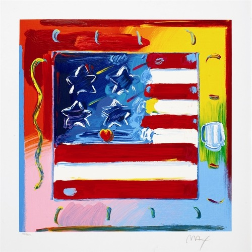 Flag Day, Peter Max, Park West Gallery