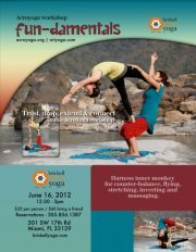 Come to the shala, and practise your flying techniques with Acroyoga!