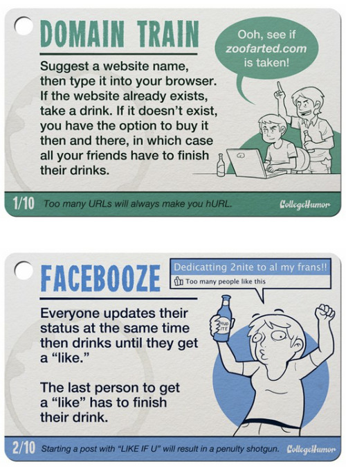 10 Internet Drinking Games [Click to continue reading]