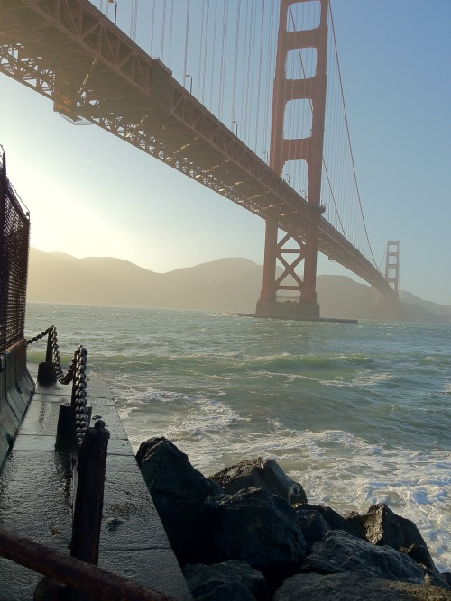 Beautiful shot of the Golden Gate Bridge. travels-with-charley:  gatsbydaily:  I love my phone when HDR works just right.   This is gorgeous.