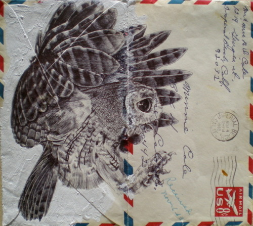 Bic Biro on vintage air mail envelope by Mark Powell