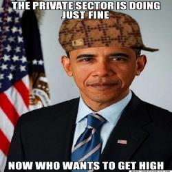 The private sector is doing fine, lol.