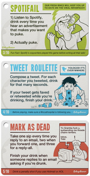 collegehumor:  10 Internet Drinking Games [Click to continue reading]  REBLOB IF U DURNK