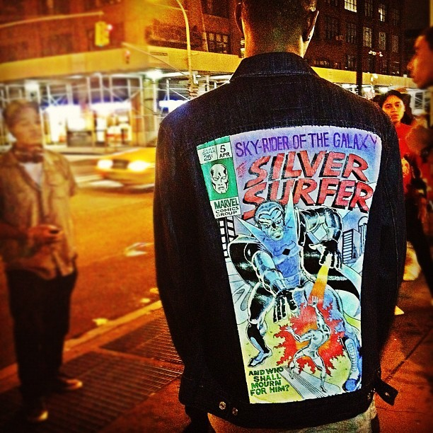 My new favorite jacket hand painted by Sage Bowen
