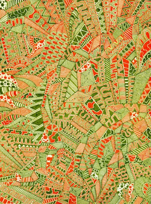 urban-myth:  Green and orange pattern