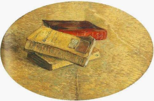 oilpaintinggallery:  Still Life with Three Books Artist: Vincent van Gogh