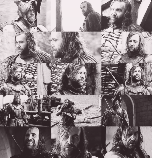 """Favourite TV Characters - Sandor Clegane, """"The Hound"""" Part I (Season I) played by Rory McCann"""