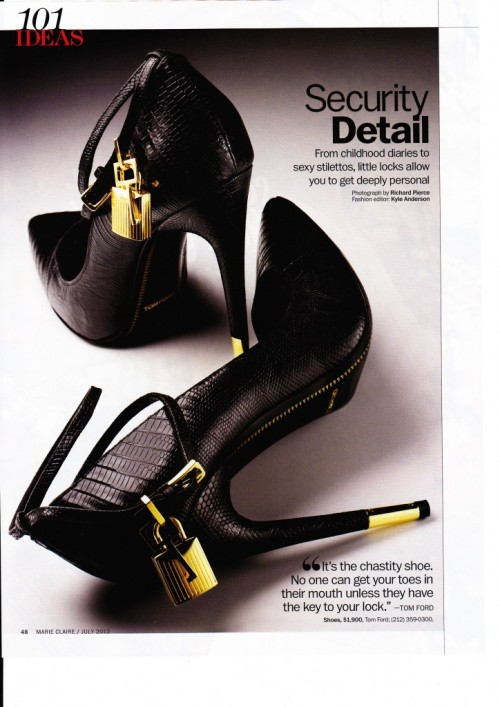 billidollarbaby:  Tom Ford's New Padlock Heels