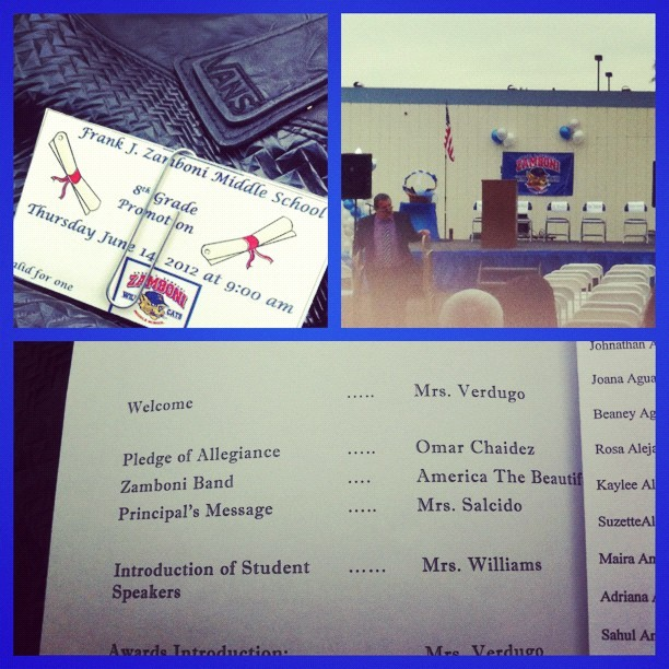 Omar's 8th grade graduation.  (Taken with Instagram)