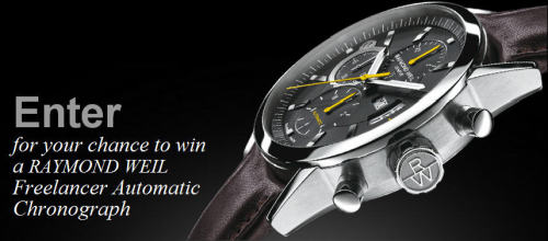 If you live in the United States, enter to win the RAYMOND WEIL Modern Precision Sweepstakes for your chance this sophisticated chronograph!