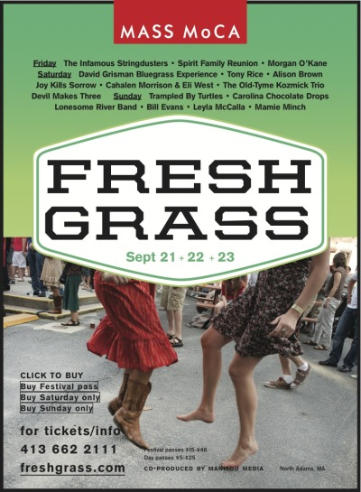 We are playing Fresh Grass on Sept. 22.
