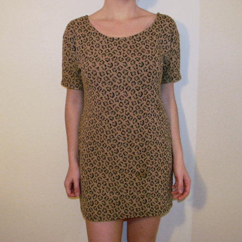 faux leopard print dress; $15