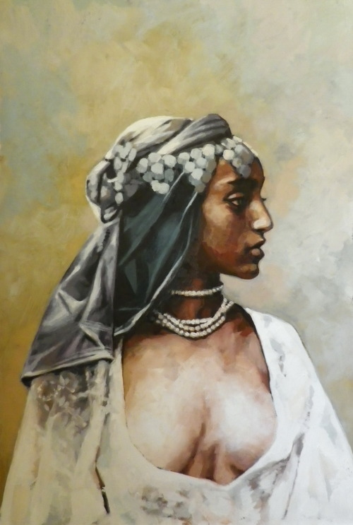 Berbere girl just finished Oil on canvas