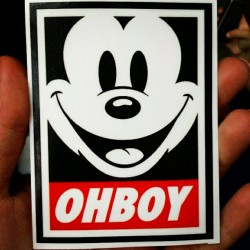 OH #Boy #mickey #mouse #sticker #calcomania.  (Tomada con Instagram)