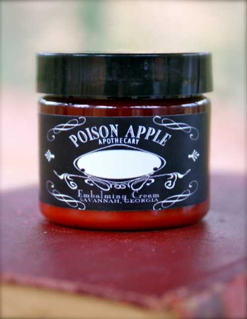 Our embalming cream body butter is 25% off all week.  Poison Apple Apothecary has been featured by HGTV, She Knows Magazine, Savannah Business Journal, The Block Radio Show, and more!