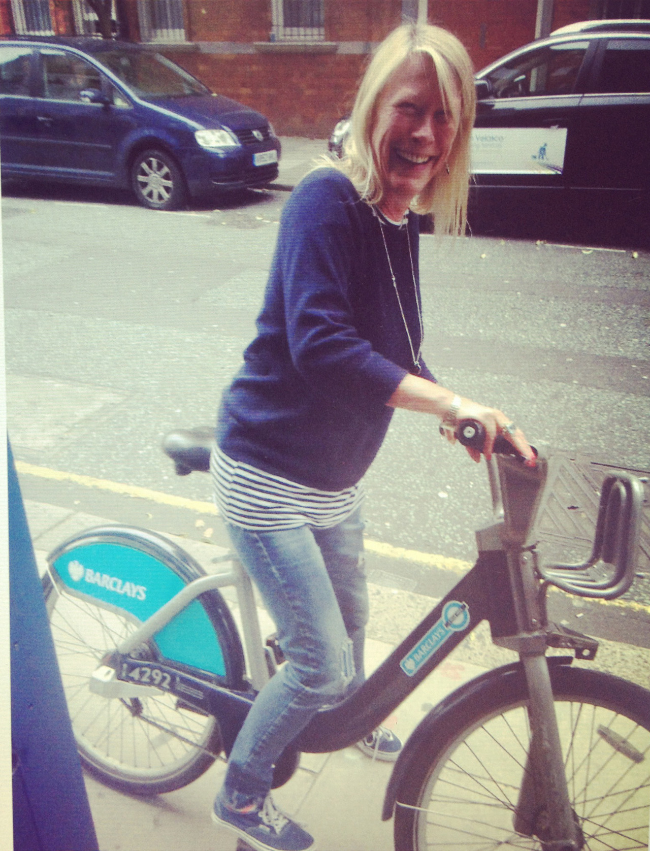 WATCH OUT LONDONERS… Carole White is on the BorisBike!!!