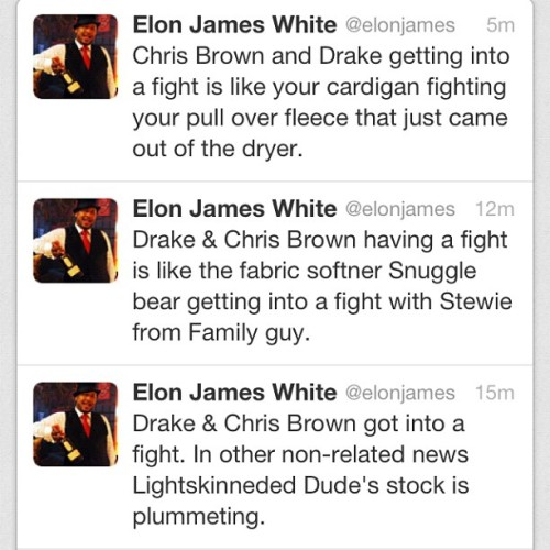elonjames:  On Drake V. Chris Brown…