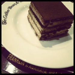 Tiramisu by coffee bean. #coffeebean #pastries #tiramisu #desserts #foodgasm #food #ig #igers #notsonice #haha (Taken with Instagram)